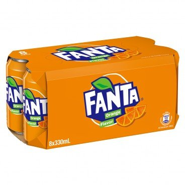 FANTA - Orange Drink - 330MLX8
