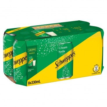 SCHWEPPES Cream Soda 330MLX8