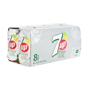 7 UP - Light Soft Drink - 330MLX8