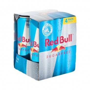 RED BULL Energy Drink Sugar Free 250MLX4