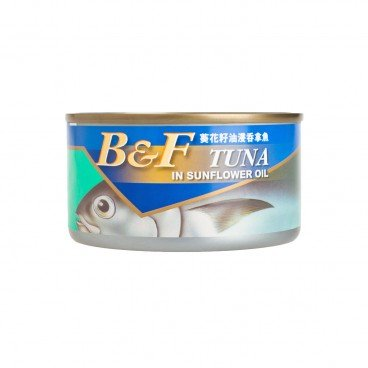 B&F Tuna In Sunflower Oil 185G