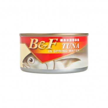 B&F - Tuna In Spring Water - 185G