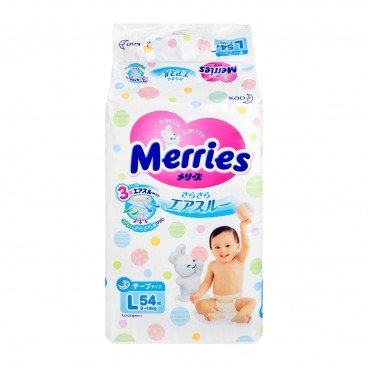MERRIES花王(PARALLEL IMPORT) - Diaper Large - 54'S