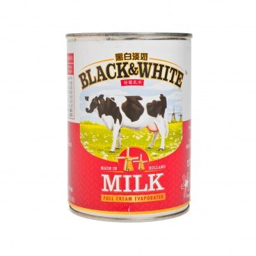 BLACK & WHITE Full Cream Evaporated Milk 410G