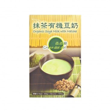 GREEN DOT DOT Organic Soya Milk With Matcha 20GX5