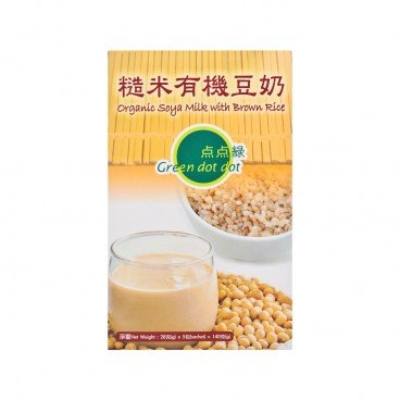 GREEN DOT DOT Organic Soya Milk With Brown Rice 20GX5
