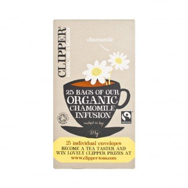 CLIPPER - Fairtrade Organic Chamomile Infusion - 25'S