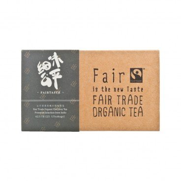 FAIR TASTE Fair Trade Darjeeling Organic Earl Grey Tea India 25'S