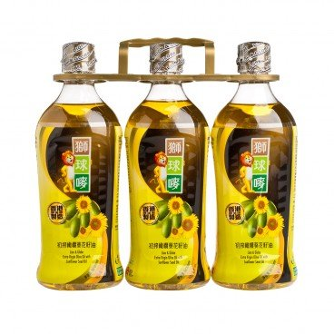 LION & GLOBE - Ev Olive Oil Sunflower Seed Oil - 900MLX3