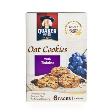 QUAKER - Oat Cookies With Raisins - 27GX6