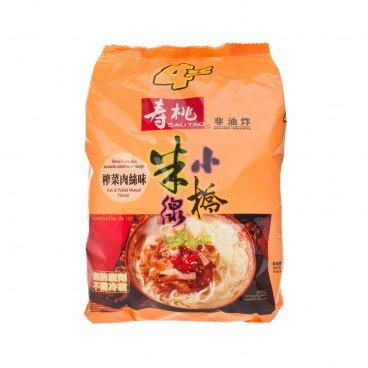 SAU TAO Xiao Qiao Rice Vermicelli pack Pork Pickled Mustard Soup Flavoured 215GX4