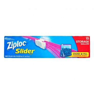 ZIPLOC - Easy Zipper Storage Bag gallon - 15'S