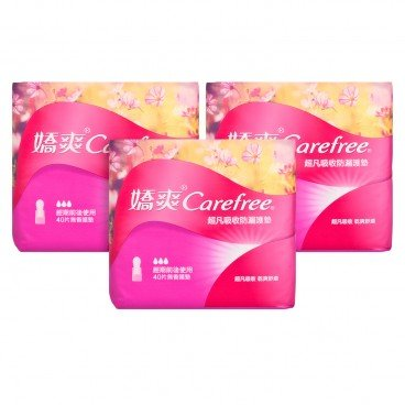 CAREFREE - Super Absorb Pantiliner - 40'SX3