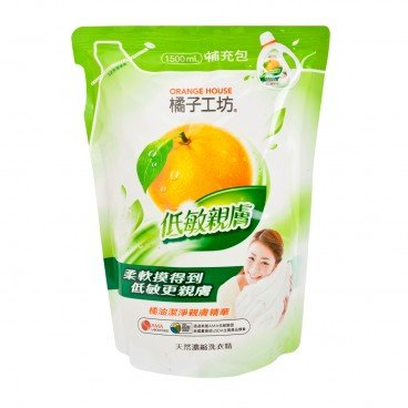 ORANGE HOUSE - Nature Liquid Detergent refill gentle On Skin - 1.5L