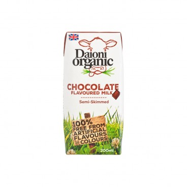 DAIONI ORGANIC Organic Semi skimmed Milk chocolate 200ML