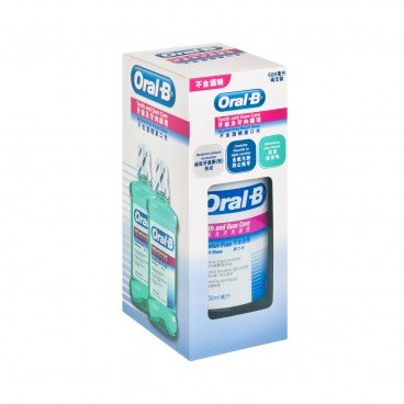 ORAL B - T g Rinse A f twin Pack - 500MLX2