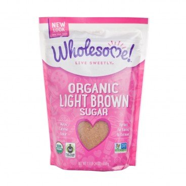 WHOLESOME Organic Light Brown Sugar 24OZ