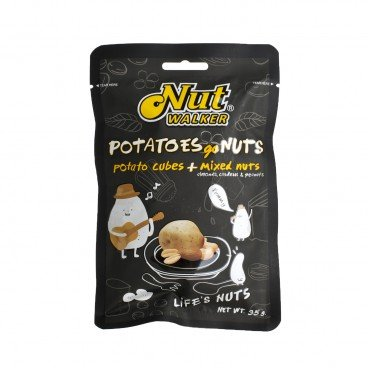 NUT WALKER - Potato Cubes With Mixed Nuts - 35G