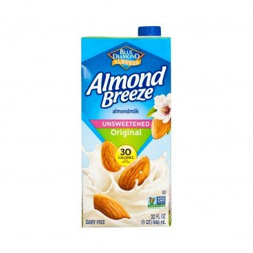 BLUE DIAMOND(PARALLEL IMPORT) - Almond Breeze Unsweetened original - 946ML
