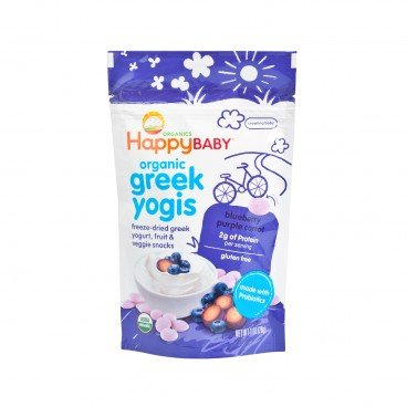 HAPPY BABY Organic Greek Yogis blueberry Purple Carrot 1OZ