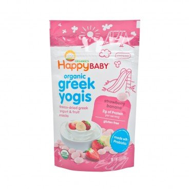 ORGANIC GREEK YOGIS-STRAWBERRY BANANA