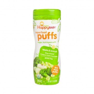 HAPPY BABY Organic Apple Broccoli Puffs 2.1OZ