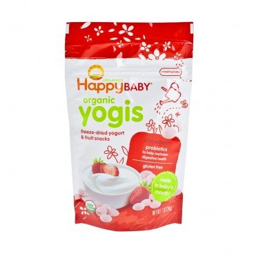 HAPPY BABY Organic Yogurt Snack strawberry 1OZ
