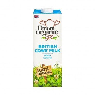 DAIONI ORGANIC Organic Whole Milk 1L