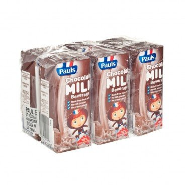 PAULS - Chocolate Flavored Milk - 200MLX6