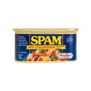 SPAM - Less Sodium Luncheon Meat - 198G