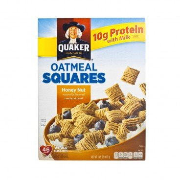 QUAKER Oatmeal Squares Honey Nuts 411G