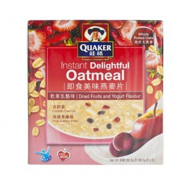 QUAKER Instant Whole Rolled Oats dried Fruits And Yogurt 58.5GX5