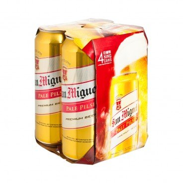 SAN MIGUEL - Beer King Can - 500MLX4
