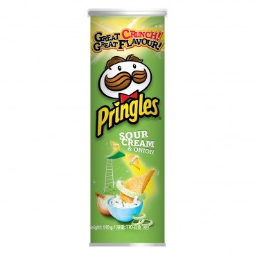 PRINGLES Potato Crisp sour Cream Onion Flavour 110G