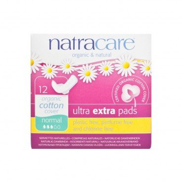 NATRACARE Ultra Extra Pads With Wings normal 22 cm 12'S