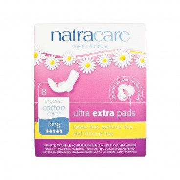 NATRACARE - Ultra Extra Pads With Wings long 31 cm Individually Wrapped - 8'S
