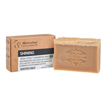 NATURALLAND Shining irish Stout Hand Made Shampoo Bar 110G