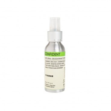 CONFIDENT-NATURAL DEODORANT SPRAY