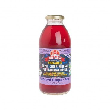 BRAGG Organic Apple Cider Vinegar Concord Grape Acai 16OZ