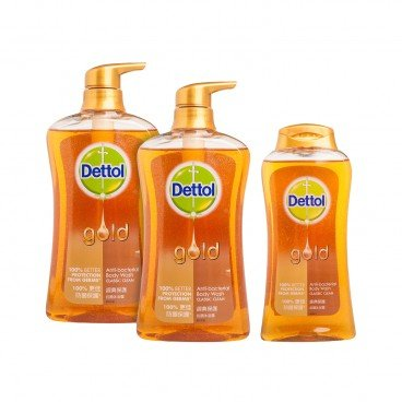 DETTOL - Gold Anti Bacterial Body Wash twinpack With Premium classic Clean - 625GX2+250G