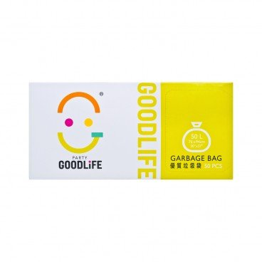 GOODLIFE - 50 l Degradable Black Garbage Bag - 50'S