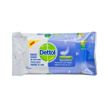 DETTOL Sensitive Anti Bacterial Wet Wipes 10'S