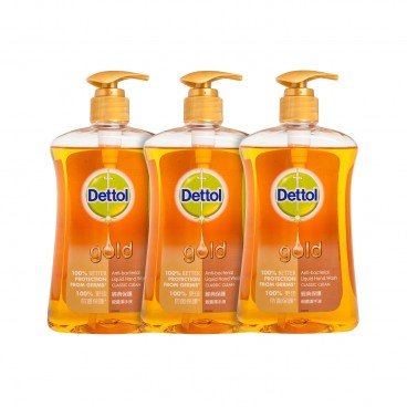 DETTOL - Gold Anti Bacterial Handwash triple Pack classic Clean - 500GX3