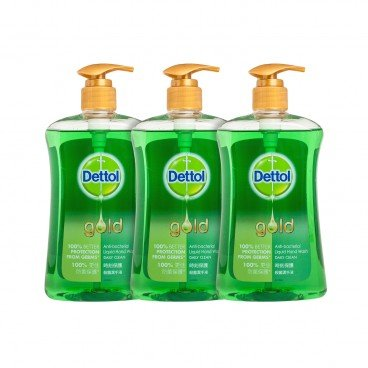 DETTOL - Gold Anti Bacterial Handwash daily Clean - 500GX3