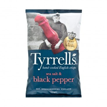 TYRRELLS - Sea Salt Black Pepper Crisps - 150G