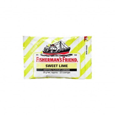 FISHERMAN'S FRIEND - Sugar Free Sweet Lime Lozenges - 25G