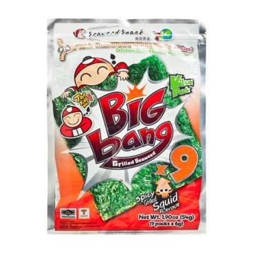 TAOKAENOI Big Bang Seaweed hot Chilli Squid 54G