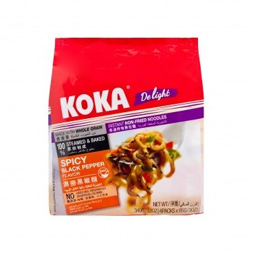 KOKA Instant Noodle spicy Black Pepper 85GX4