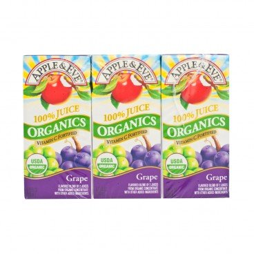 APPLE & EVE Organic Grape Juice 200MLX3