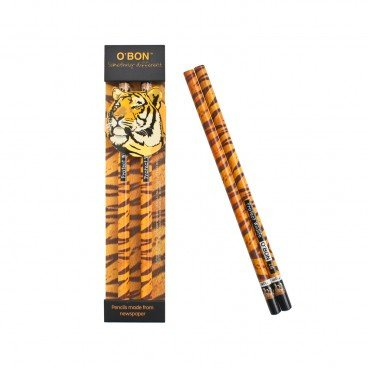 CHARITY SALE-WWF Recycled Newspaper 2 b Pencil tiger 2'S